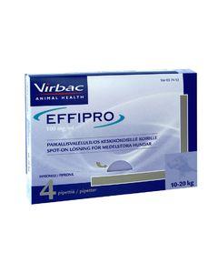 EFFIPRO KESKIKOKOISILLE KOIRILLE 100 mg/ml vet paikallisvaleluliuos (10-20 kg)4x1,34 ml