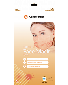Copper inside kirurginen suu-nenäsuojain 1 kpl
