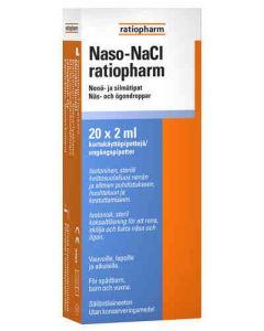 NASO NACL RATIOPHARM NENÄ-/SILMÄTIPAT 20X2 ML