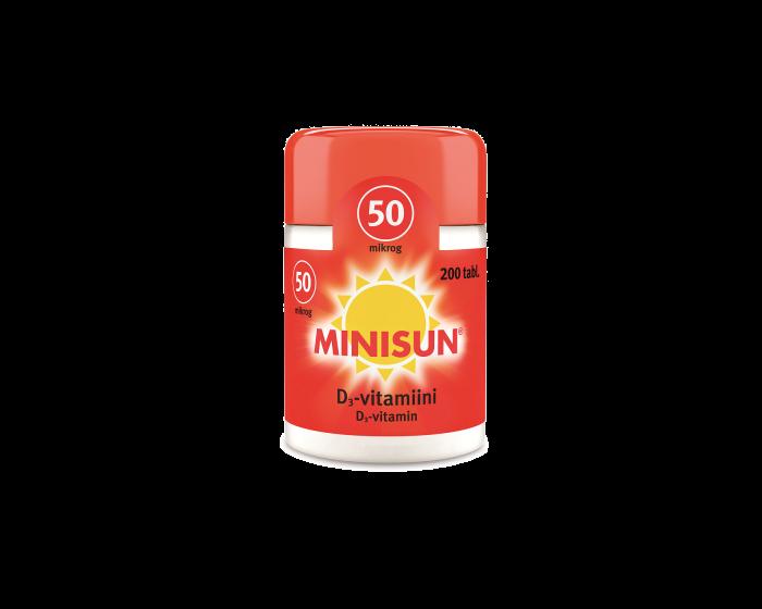 MINISUN D-VITAMIINI 50 MIKROG PURUTABL 200 kpl