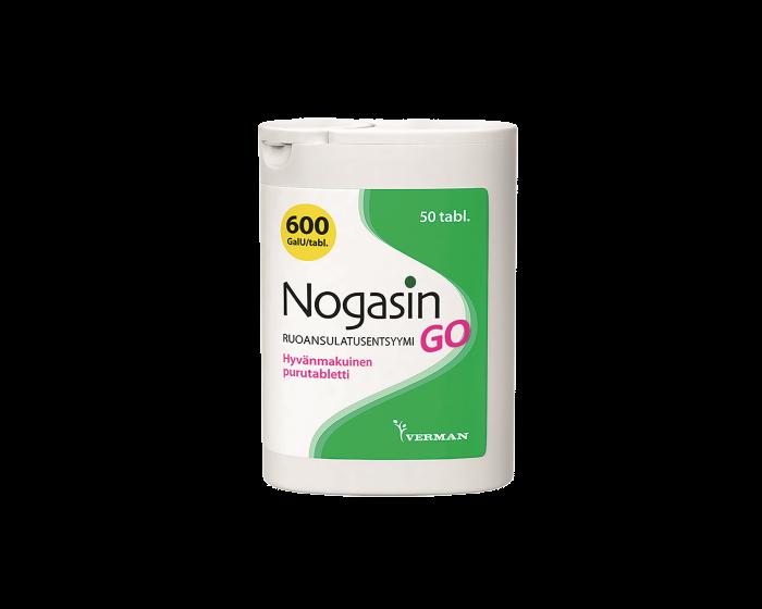 NOGASIN GO 600 GaIU PURUTABLETTI 50 kpl