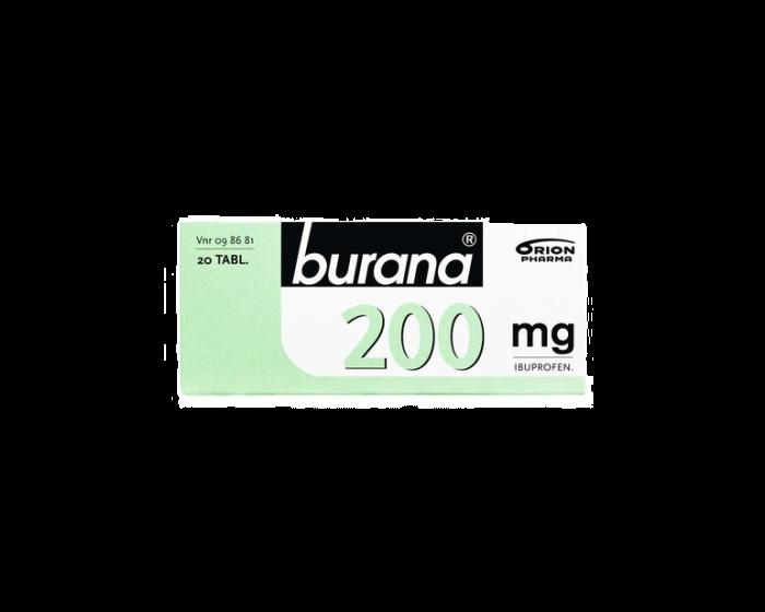 BURANA 200 mg tabl, kalvopääll 20 fol