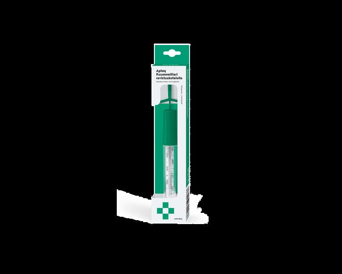 Apteq kuumemittari ravistuskotelolla 1 kpl